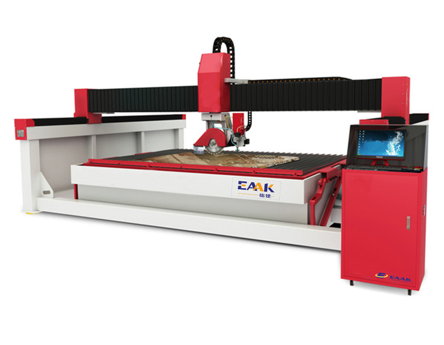 Bridge saw waterjet stone cutter