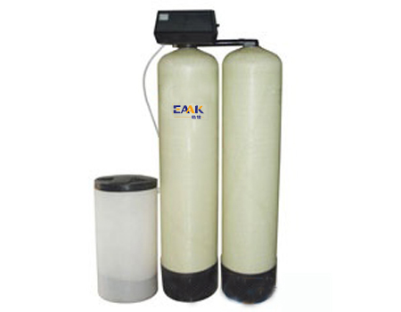 Water softener for waterjet machine
